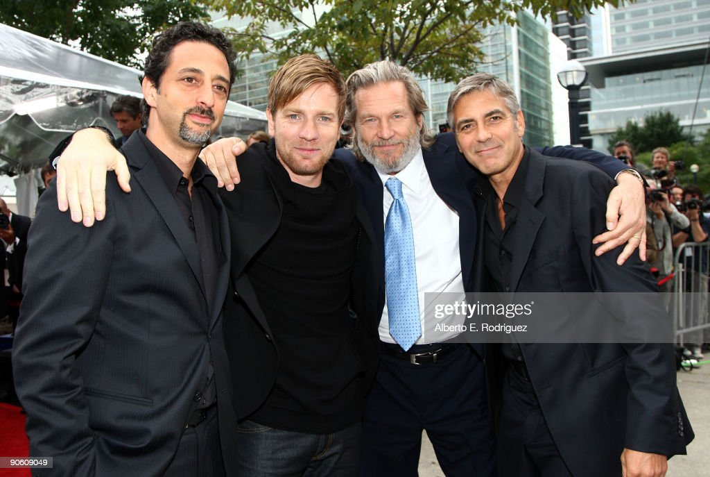 Director Grant Heslov, actors Ewan McGregor, Jeff Bridges and George Clooney arrive at the 'The Men Who Stare At Goats' premiere during the Toronto International Film Festival held at Roy Thomson Hall on September 11, 2009 in Toronto, Canada.