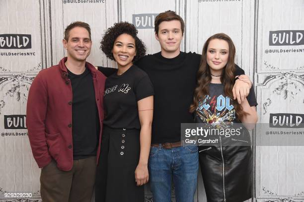 Director Greg Berlanti actors Alexandra Shipp Nick Robinson and Katherine Langford visit Build Series to discuss the film Love Simon at Build Studio...