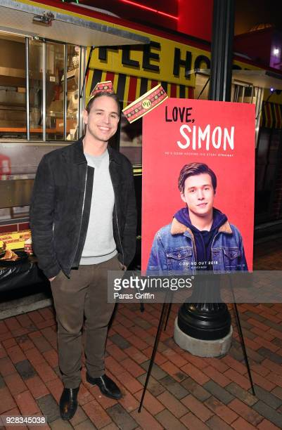 Director Greg Berlanti attends Love Simon Atlanta Fan Screening and QA at the Waffle House Food Truck at Regal Atlantic Station on March 6 2018 in...
