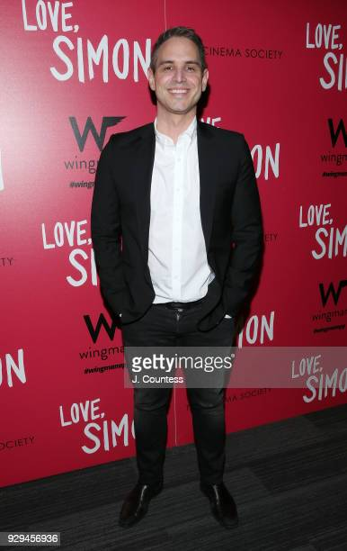 Director Greg Berlanti poses for a photo at the screening of 'Love Simon' hosted by 20th Century Fox Wingman at The Landmark at 57 West on March 8...
