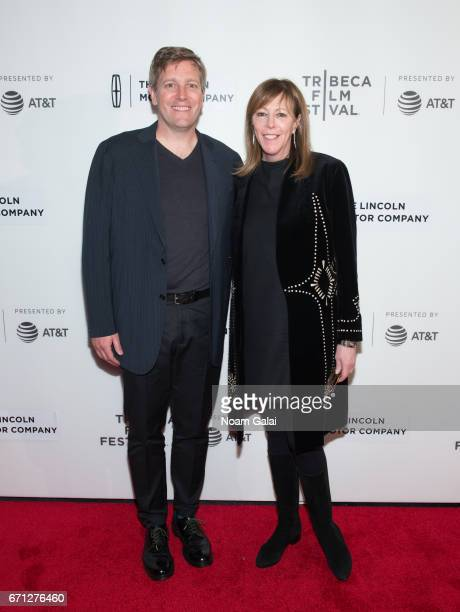 Director Greg Kohs and producer Jane Rosenthal attend the 'AlphaGo' premiere during 2017 Tribeca Film Festival at Spring Studios on April 21 2017 in...