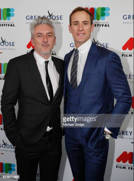 Director Greg McLean of the movie Jungle and actor Joel Jackson pose ahead of the World Premiere of Jungle at the opening night of the 66th Melbourne...