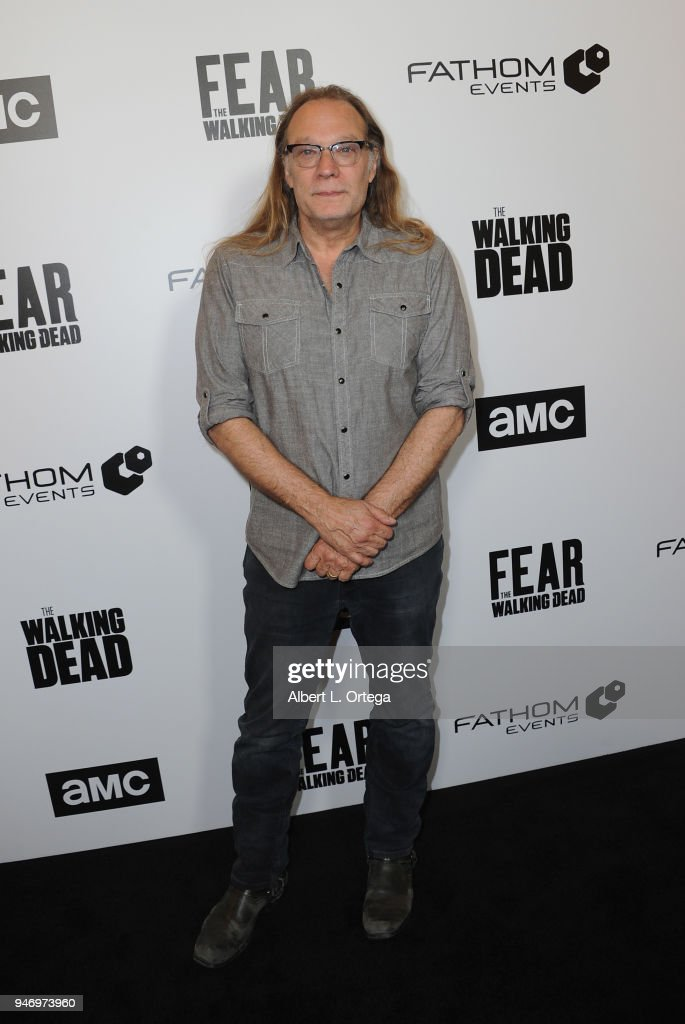 Director Greg Nicotero arrives for the Fathom Events And AMC's 'Survival Sunday: The Walking Dead And Fear The Walking Dead' held at AMC Century City 15 theater on April 15, 2018 in Century City, California.
