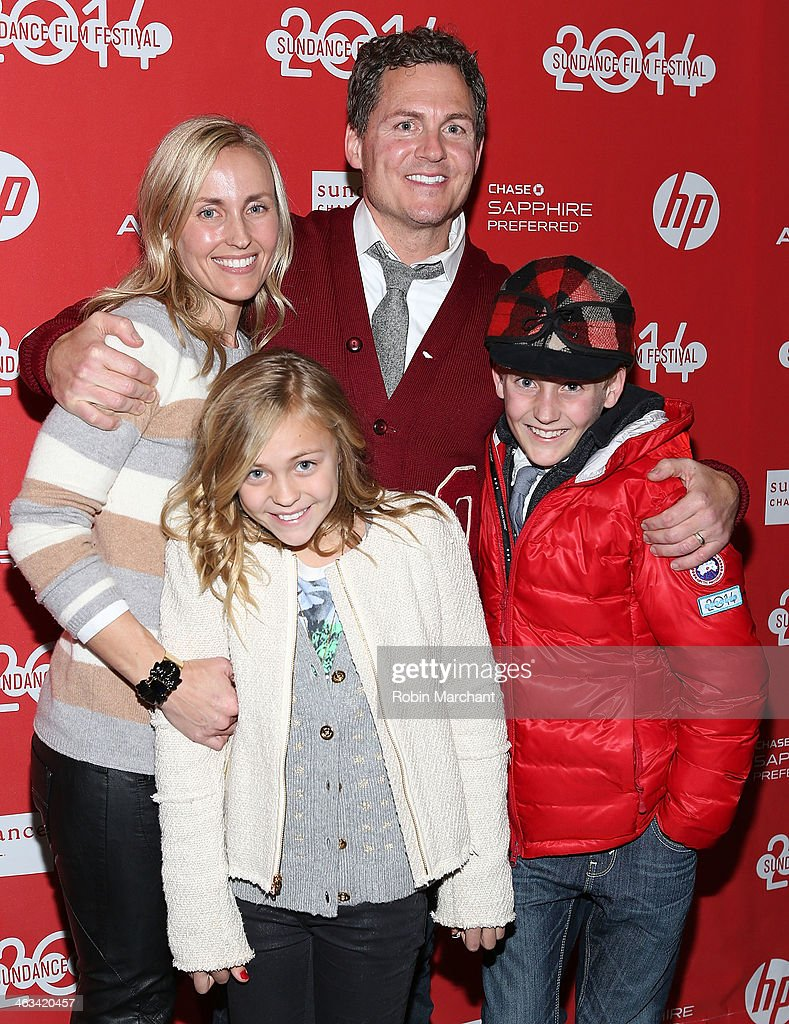 Director Greg Whiteley with family attend 'Mitt' Premiere during 2014 Sundance Film Festival at Rose Wagner Performing Arts Center on January 17, 2014 in Salt Lake City, Utah.