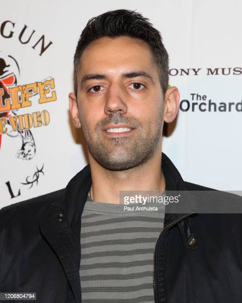 Director Greg Wonder attends the arrivals for the live performance of the Rock Band Six Gun Sal at Boardners Restaurant on February 16 2020 in...