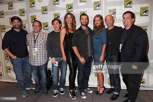 Director Greg Yaitanes guest writer Jonathan Tropper actors Ivana Milicevic Antony Starr Lili Simmons Hoon Lee and guest speak onstage at Cinemax's...