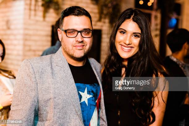 Director Gregori J Martin and Singer/Actress Jennalyn Ponraj attend the 8th Annual LANY Mixer at Pearl's on February 26 2019 in West Hollywood...