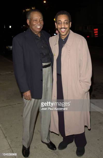 Director Gregory Hines & his father Maurice during The Red Sneakers Premiere at Writers Guild of America Theater in Beverly Hills, California, United...