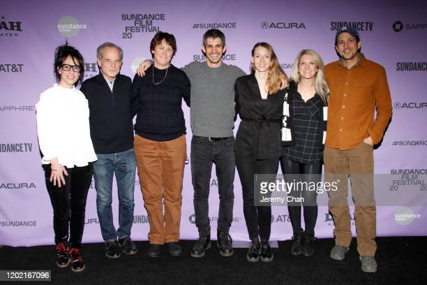 Director Gregory Kershaw and family attend the 2020 Sundance Film Festival The Truffle Hunters Premiere at Prospector Square Theatre on January 26...