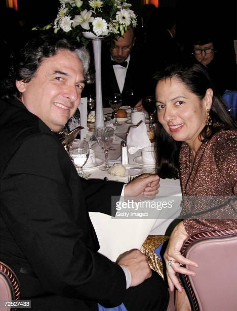 Director Gregory Nava poses with wife actress Anna Thomas during National Hispanic Media Coalitions Fifth Annual Impact Awards Gala at The Millenium...