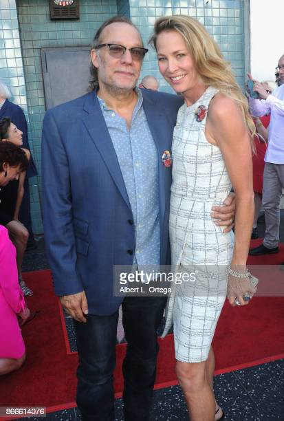 Director Gregory Nicotero and actress Kathleen Kinmont at the George A Romero star ceremony on the Hollywood Walk of Fame held on October 25 2017 in...