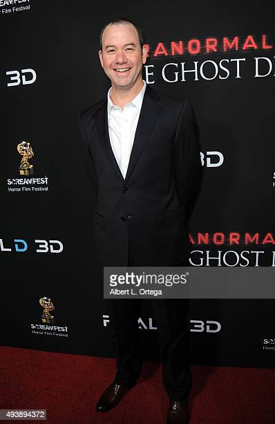 Director Gregory Plotkin arrives for the Screamfest Closing Night Screening Of Paramount Pictures' Paranormal Activity The Ghost Dimension held at...