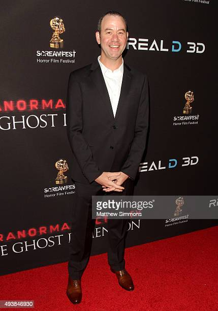 Director Gregory Plotkin attends a screening of Paramount Pictures' Paranormal Activity The Ghost Dimension at TCL Chinese 6 Theatres on October 22...