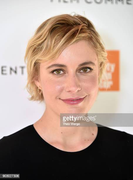 Director Greta Gerwig attends the 2018 Film Society Of Lincoln Center Film Comment Luncheon at Lincoln Ristorante on January 9 2018 in New York City