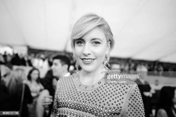 Director Greta Gerwig attends the 24th Annual Screen Actors Guild Awards at The Shrine Auditorium on January 21 2018 in Los Angeles California...