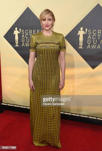 Director Greta Gerwig attends the 24th Annual Screen ActorsGuild Awards at The Shrine Auditorium on January 21 2018 in Los Angeles California