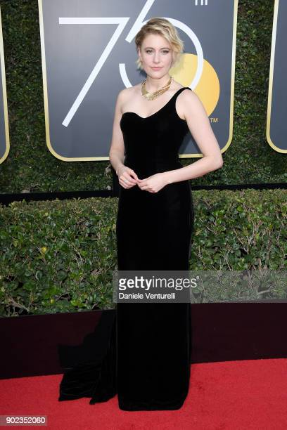 Director Greta Gerwig attends The 75th Annual Golden Globe Awards at The Beverly Hilton Hotel on January 7 2018 in Beverly Hills California