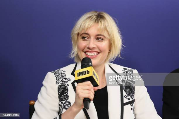 Director Greta Gerwig of 'Lady Bird' attends The IMDb Studio Hosted By The Visa Infinite Lounge at The 2017 Toronto International Film Festival at...