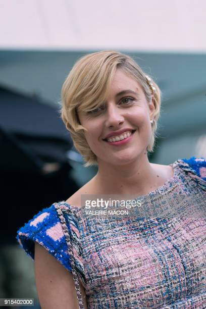 Director Greta Gerwig poses for portraits during the Academy Awards annual nominees luncheon for the 90th Oscars at the Beverly Hilton California on...