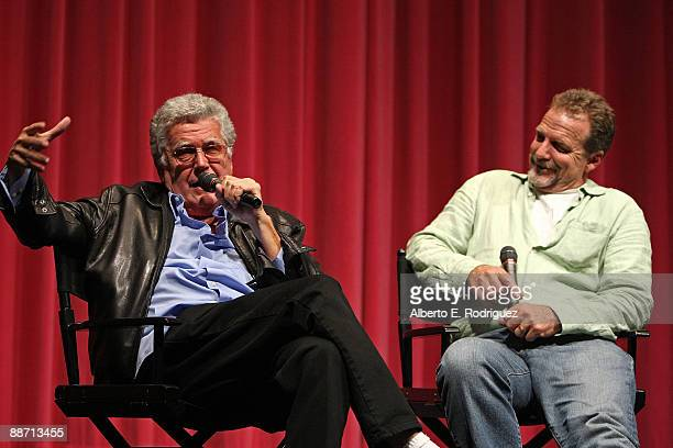 Director Greydon Clark and actor Darby Hinton attend the 2009 Los Angeles Film Festival's screening of HiRiders at the Billy Wilder Theater at The...