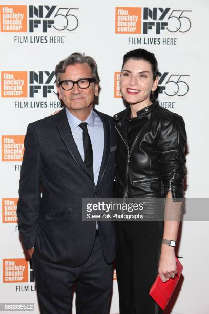 Director Griffin Dunne and actress Julianna Margulies attend 'Joan Didion The Center Will Not Hold' during the 55th New York Film Festival at Alice...