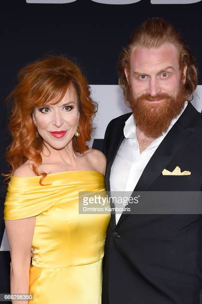 Director Gry Molvær Hivju and Actor Kristofer Hivju attend The Fate Of The Furious New York Premiere at Radio City Music Hall on April 8 2017 in New...