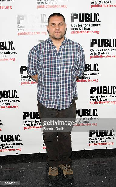 Director Guillermo Calderon attends the Neva And Detroit '67 Opening Night Celebration at The Public Theater on March 11 2013 in New York City