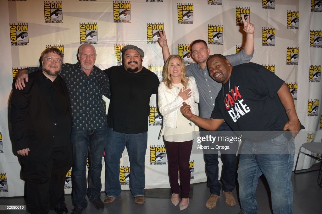 Director Guillermo del Toro, actor Ron Perlman, animator Jorge Gutierrez, actress Christina Applegate, actor Channing Tatum, and rapper Biz Markie attend the 20th Century Fox presentation during Comic-Con International 2014 at San Diego Convention Center on July 25, 2014 in San Diego, California.