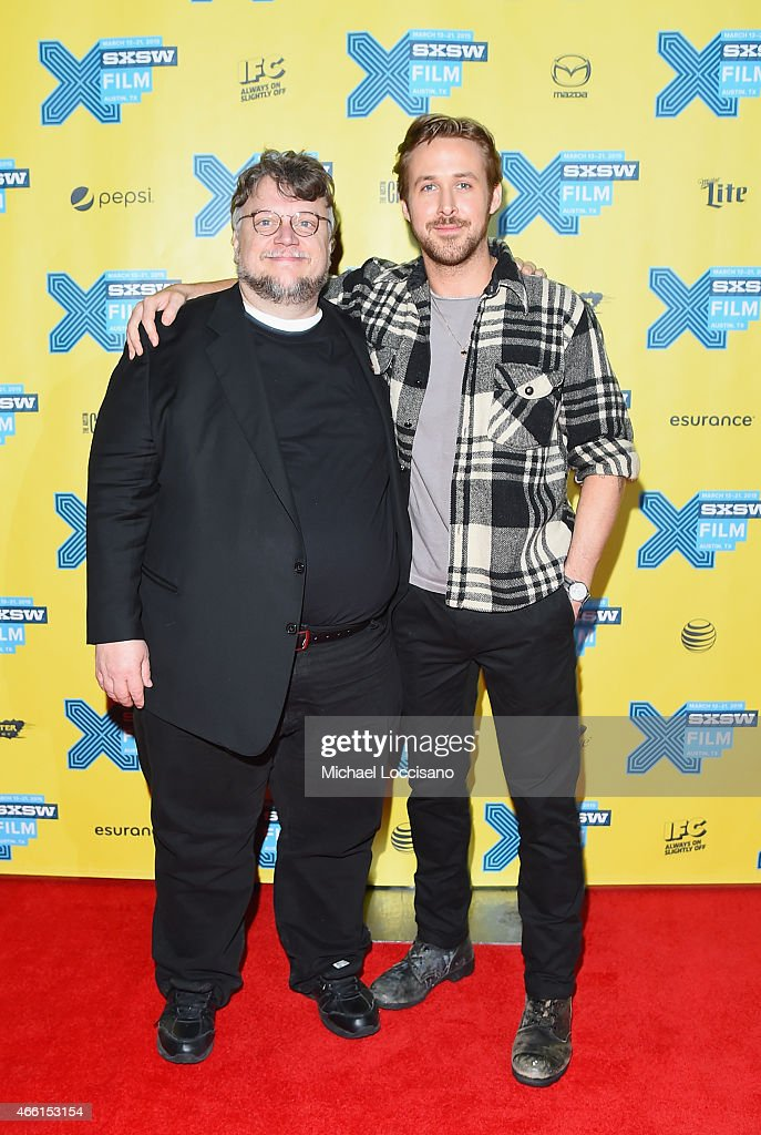 Director Guillermo del Toro and actor/director Ryan Gosling attend 'A Conversation With Ryan Gosling' during 2015 SXSW Music, Film + Interactive Festival at Austin Convention Center on March 13, 2015 in Austin, Texas.