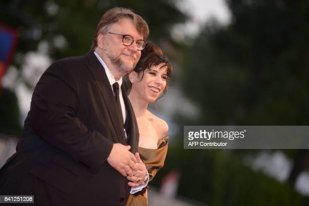 Director Guillermo Del Toro and actress Sally Hawkins arrive at the premiere of the movie 'The Shape of Water' presented in competition 'Venezia 74'...