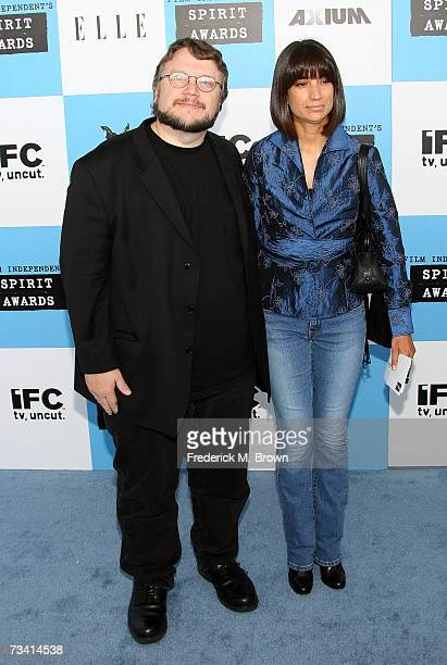 Director Guillermo del Toro and guest arrive at the 22nd Annual Film Independent Spirit Awards held at Santa Monica Beach on February 24 2007 in...