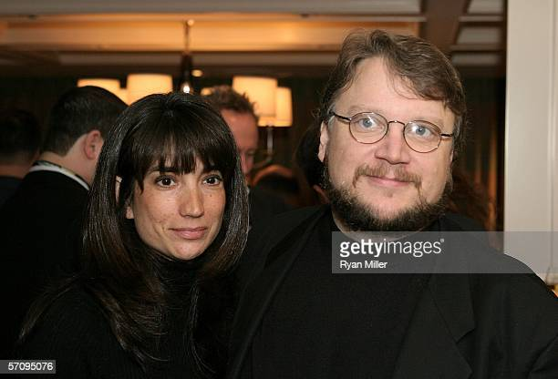 """Director Guillermo del Toro and wife Lorenza del Toro attend the Picturehouse cocktail reception for the film """"The Notorious Bettie Page"""" during..."""