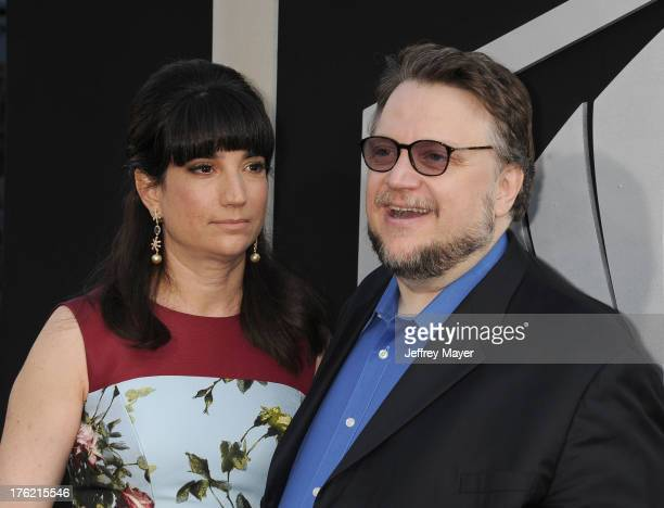 Director Guillermo del Toro and wife Lorenza Newton arrive at the 'Pacific Rim' Los Angeles Premiere at Dolby Theatre on July 9 2013 in Hollywood...
