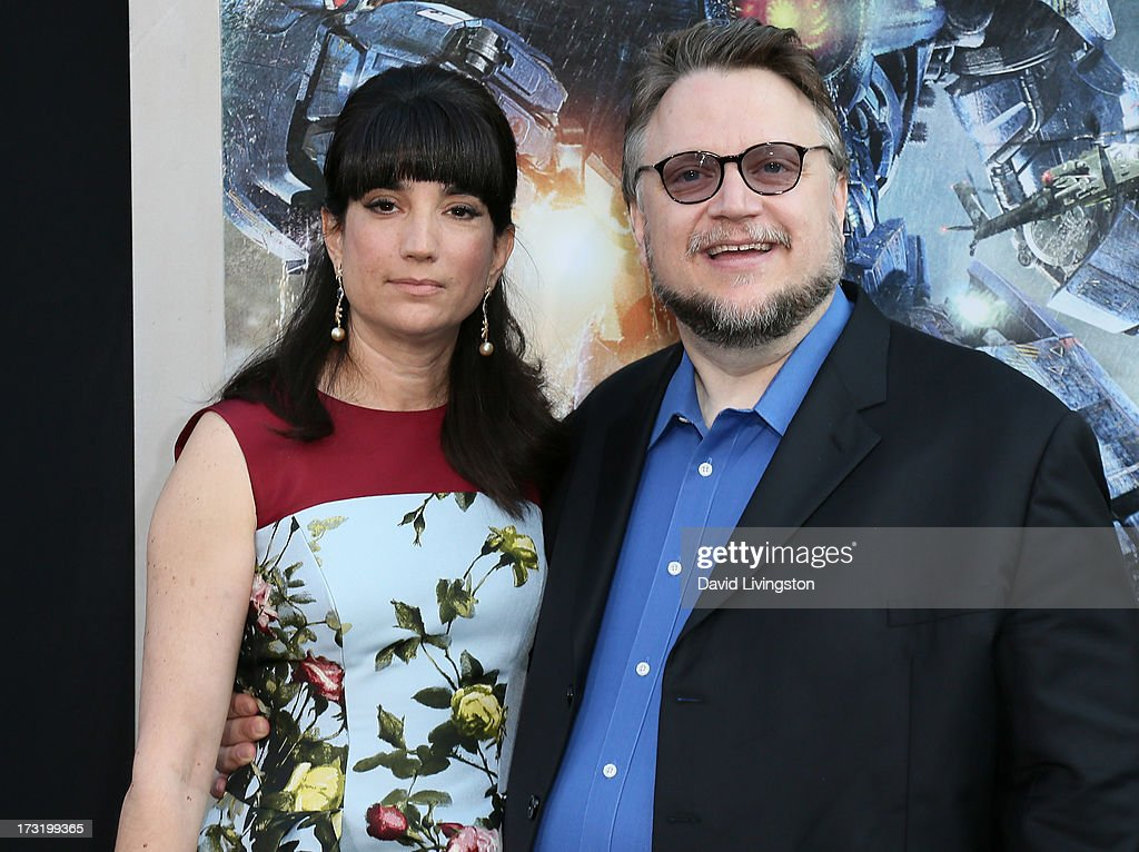Director Guillermo del Toro (R) and wife Lorenza Newton attend the premiere of Warner Bros. Pictures and Legendary Pictures' 'Pacific Rim' at the Dolby Theatre on July 9, 2013 in Hollywood, California.