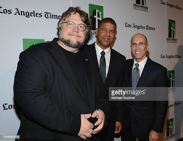 Director Guillermo del Toro animator Peter Ramsey and CEO Dreamworks Animation Jeffrey Katzenberg arrive at the 16th Annual Hollywood Film Awards...