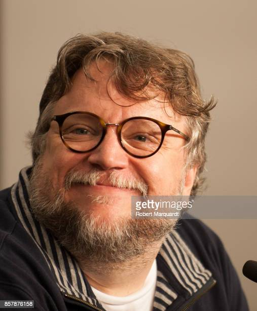 Director Guillermo Del Toro attends a press conference for his latest film 'The Shape of Water' at the Sitges Film Festival 2017 on October 5 2017 in...