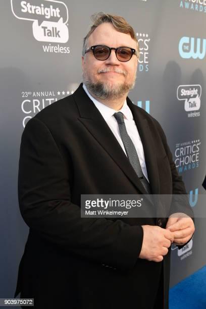Director Guillermo del Toro attends The 23rd Annual Critics' Choice Awards at Barker Hangar on January 11 2018 in Santa Monica California