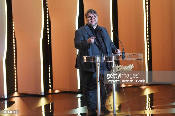Director Guillermo del Toro attends the 70th Anniversary Ceremony during the 70th annual Cannes Film Festival at Palais des Festivals on May 23 2017...
