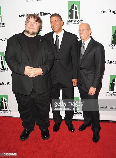 Director Guillermo del Toro Illustrator Peter Ramsey and DreamWorks Animation CEO Jeffrey Katzenberg arrive at the 16th Annual Hollywood Film Awards...