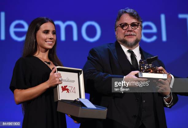Director Guillermo del Toro receives the Golden Lion for Best Film Award for 'The Shape Of Water' and a JaegerLeCoultre Unique engraved Reverso watch...