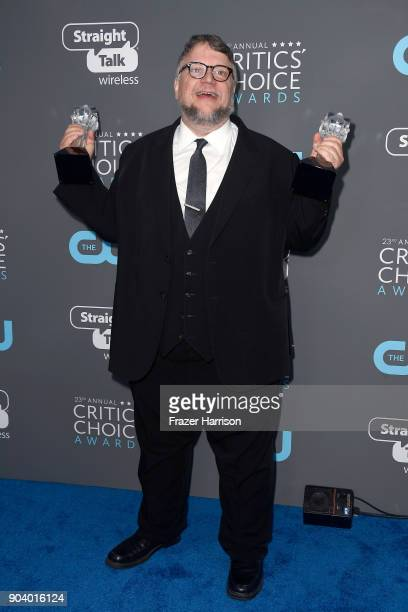 Director Guillermo del Toro recipient of the Best Director and Best Picture awards for The Shape of Water poses in the press room during The 23rd...