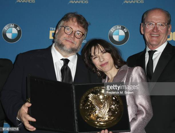 Director Guillermo del Toro winner of the award for Outstanding Directorial Achievement in Feature Film for 'The Shape of Water' and actors Sally...