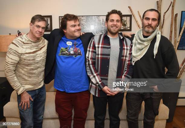 Director Gus Van Sant Actor Jack Black Actor Jonah Hill and Actor Joaquin Pheonix of the film 'Don't Worry He Won't Get Far on Foot' attend as Grey...
