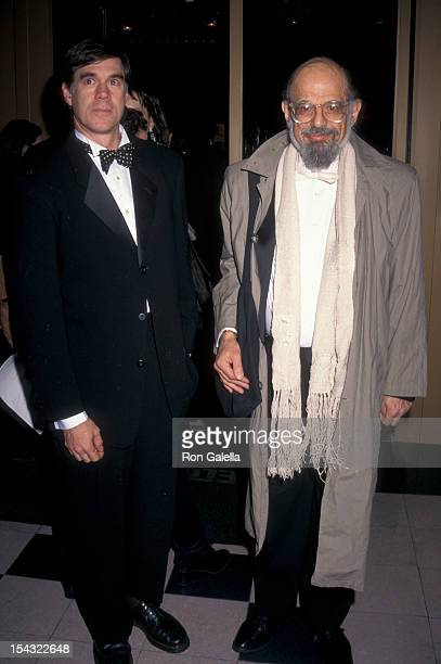 Director Gus Van Sant and poet Allen Ginsberg attends the screening of The Portrait of a Lady on December 7 1997 at the United Artists Theater in New...