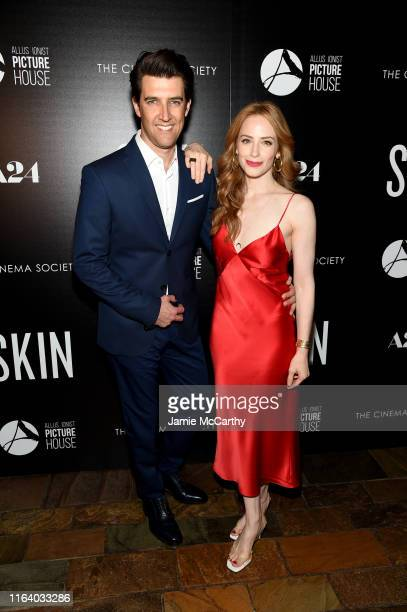 Director Guy Nattiv and Jaime Ray Newman attends the Skin New York Screening at The Roxy Cinema on July 24 2019 in New York City