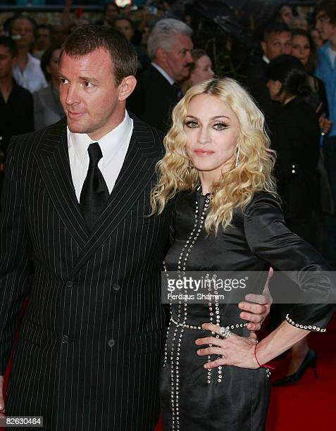 Director Guy Richie and Madonna attend the world premiere of RocknRolla at Odeon West End on September 1 2008 in London England