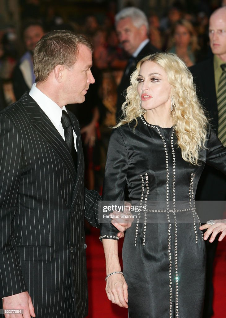 Director Guy Richie and Madonna attend the world premiere of RocknRolla at Odeon West End on September 1, 2008 in London, England.
