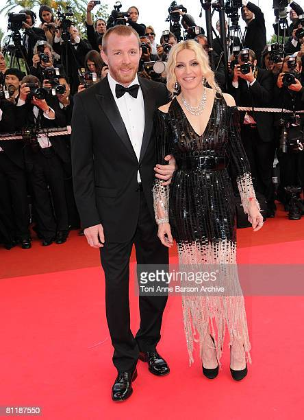 Director Guy Richie and singer Madonna attend the 'I Am Because We Are' premiere at the Palais des Festivals during the 61st International Cannes...