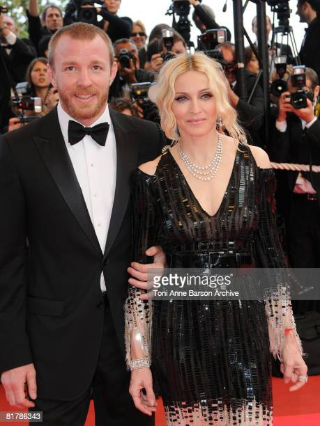 Director Guy Richie and singer Madonna attend the I Am Because We Are premiere at the Palais des Festivals during the 61st International Cannes Film...