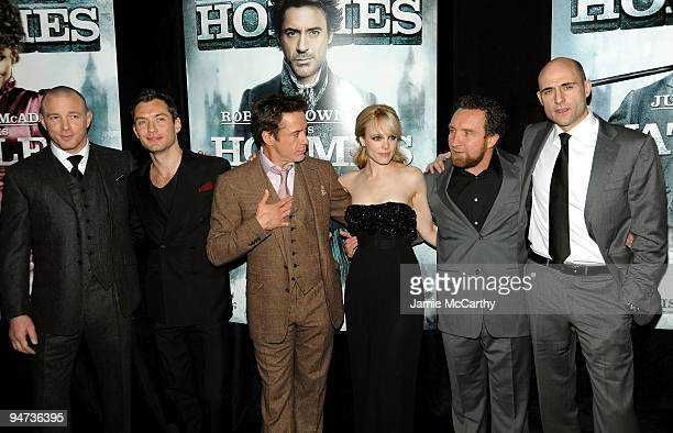 Director Guy Ritchie, actor Jude Law, actor Robert Downey Jr., actress Rachel McAdams, actor Eddie Marsan and actor Mark Strong attend the New York...